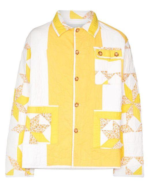 メンズ Bode キルティング ジャケット Yellow