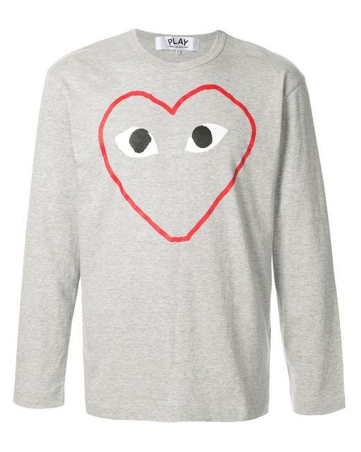 メンズ COMME DES GARÇONS PLAY ロングtシャツ Gray