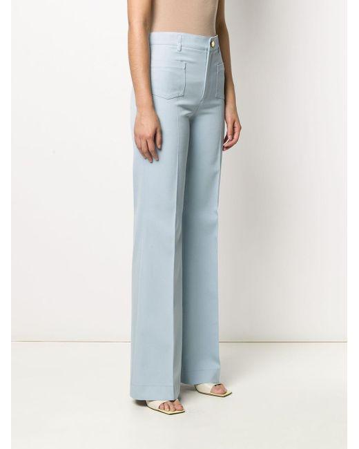 Pantaloni a gamba ampia di RED Valentino in Blue