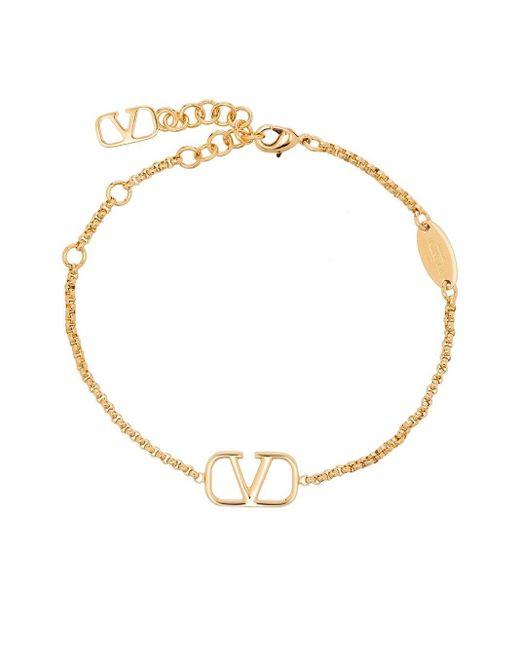 Valentino Garavani Metallic Vlogo Chain Bracelet