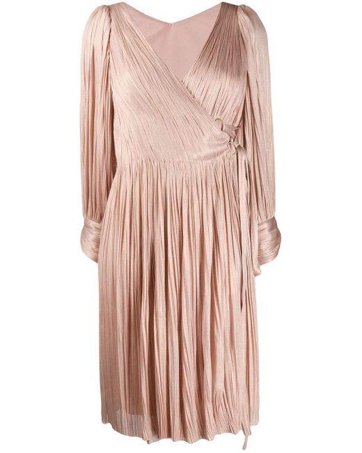 Maria Lucia Hohan Dianys プリーツ ラップドレス Pink
