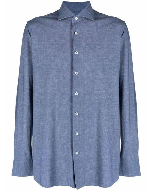 メンズ Lardini ボタン シャツ Blue