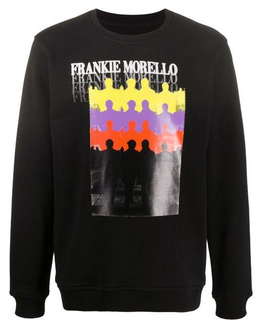 メンズ Frankie Morello プリント スウェットシャツ Black