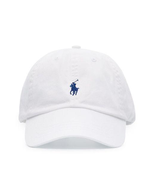 メンズ Polo Ralph Lauren コットンベースボールキャップ White