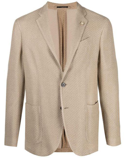 Однобортный Пиджак Lardini для него, цвет: Natural