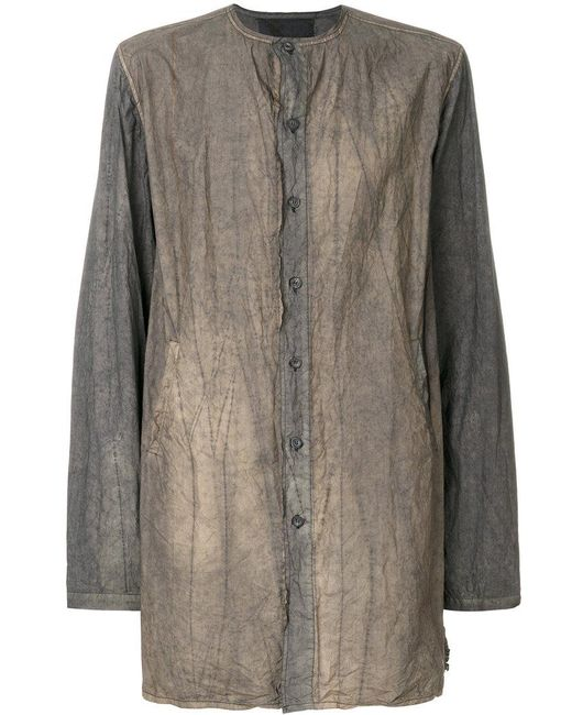 By Walid | Gray Dye-detail Shirt for Men | Lyst