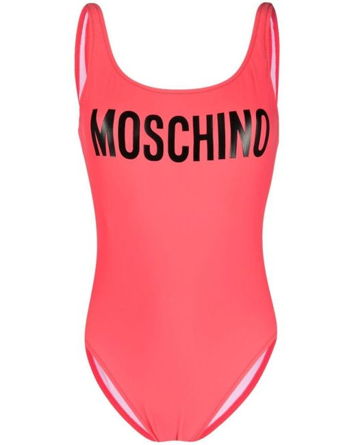 Moschino ロゴ ワンピース水着 Pink