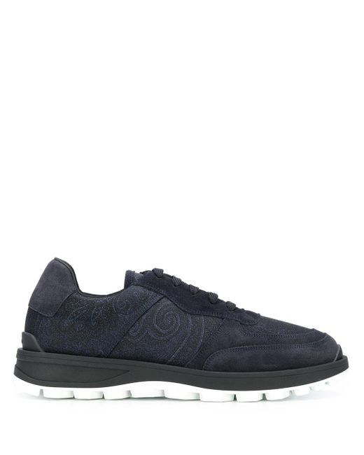 Etro Sneakers mit Print in Blue für Herren