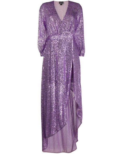 Just Cavalli スパンコール ラップドレス Purple