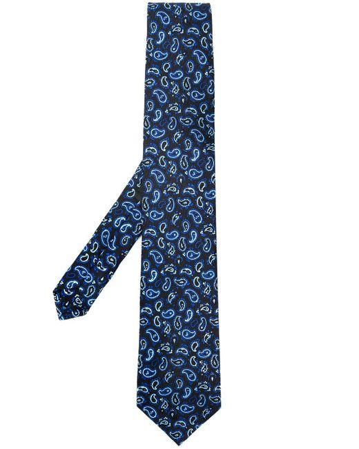 Cravatta con stampa paisley di Etro in Blue da Uomo