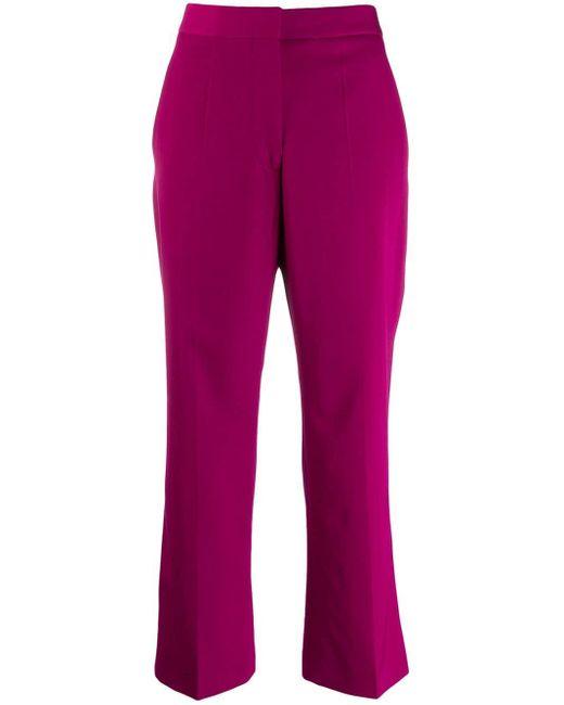 Stella McCartney クロップド テーラードパンツ Purple