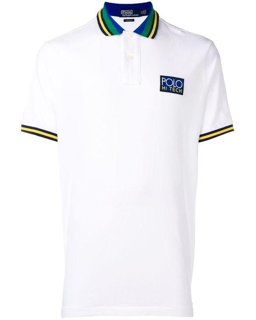 メンズ Polo Ralph Lauren ストライプカラー ポロシャツ White