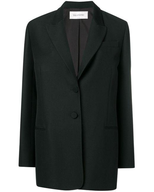 Blazer oversize Valentino en coloris Black