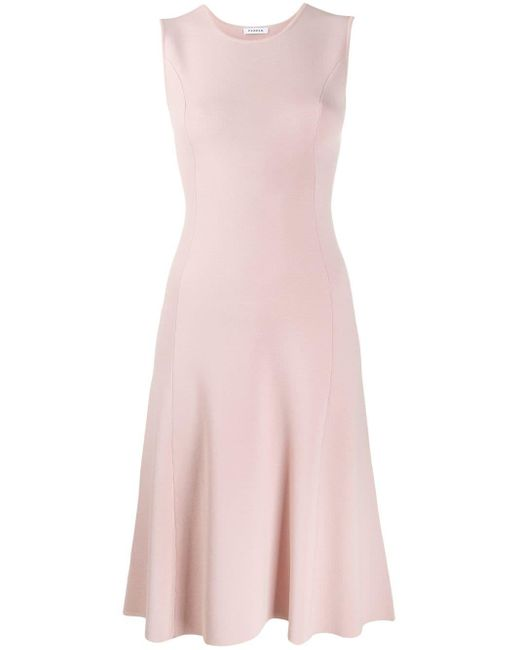 P.A.R.O.S.H. ノースリーブ シフトドレス Pink