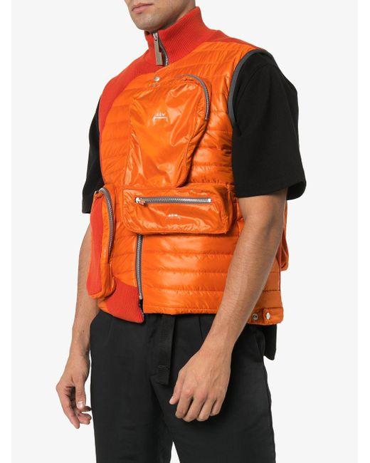 メンズ A_COLD_WALL* マルチポケット ジレ Orange