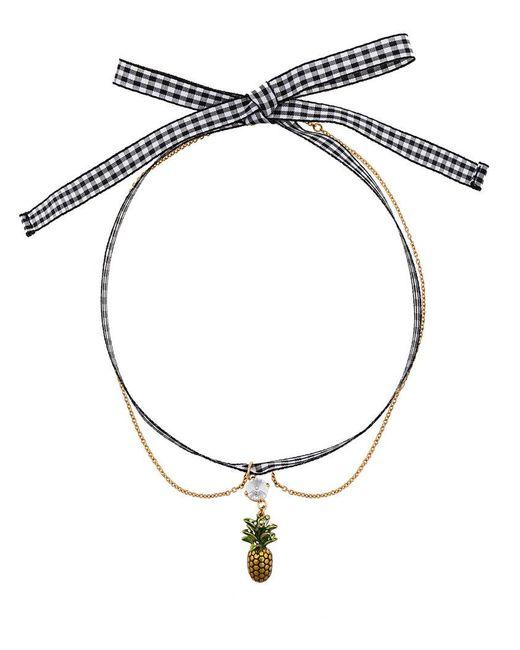 Miu Miu   Black Pineapple Pendant Necklace   Lyst