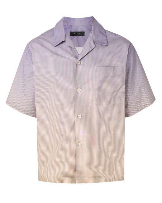 メンズ Qasimi グラデーション ストライプ シャツ Multicolor