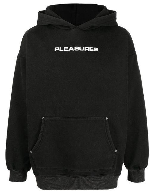 メンズ Pleasures ロゴ パーカー Black