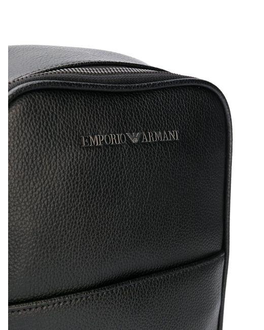 メンズ Emporio Armani スクエア バックパック Black