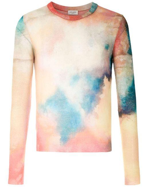 メンズ Saint Laurent ラウンドネック プルオーバー Multicolor