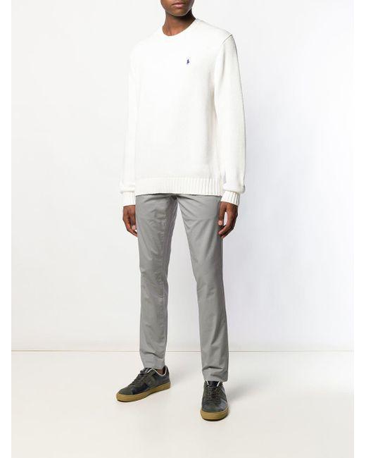 メンズ Polo Ralph Lauren ロゴエンブロイダリー セーター White