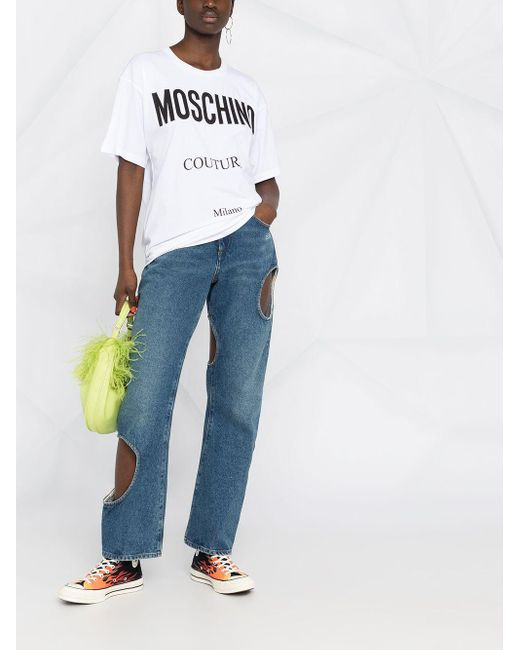 Moschino ロゴ Tシャツ White