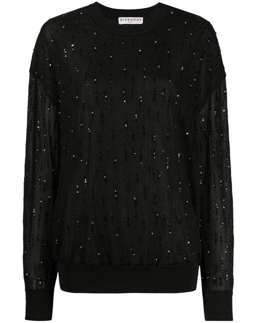 Givenchy スパンコール プルオーバー Black