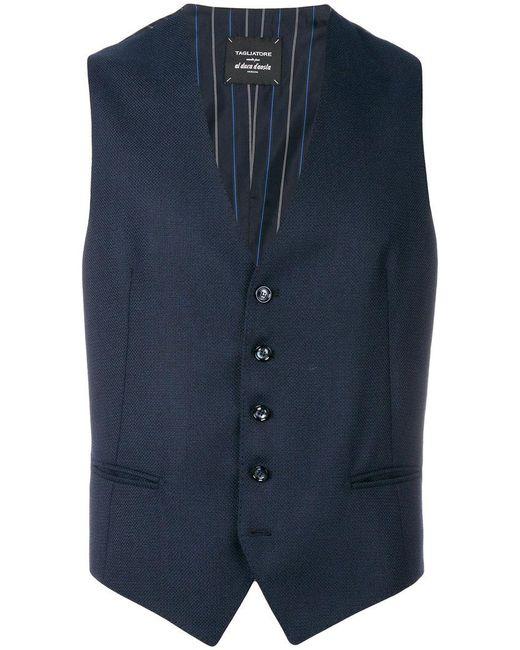 Tagliatore | Blue Classic Waistcoat for Men | Lyst