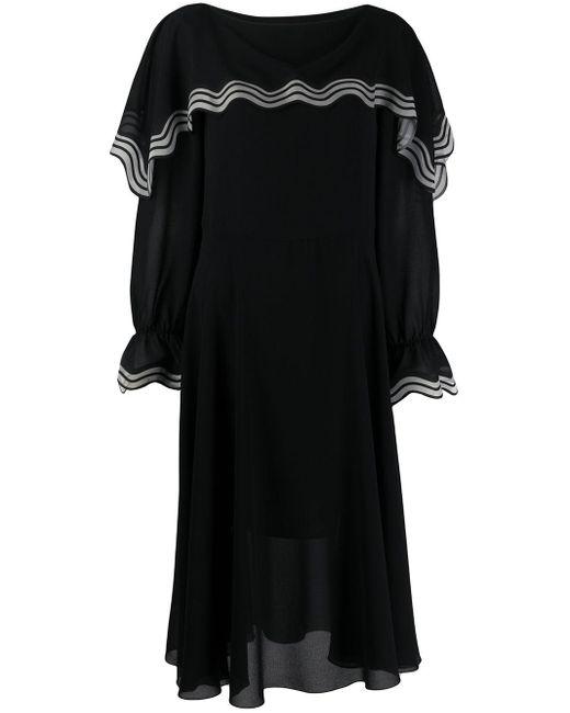 See By Chloé ストライプ ドレス Black