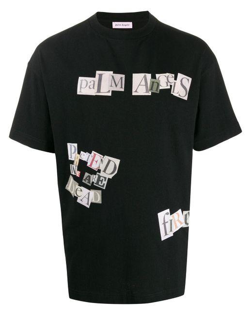 メンズ Palm Angels グラフィック Tシャツ Black