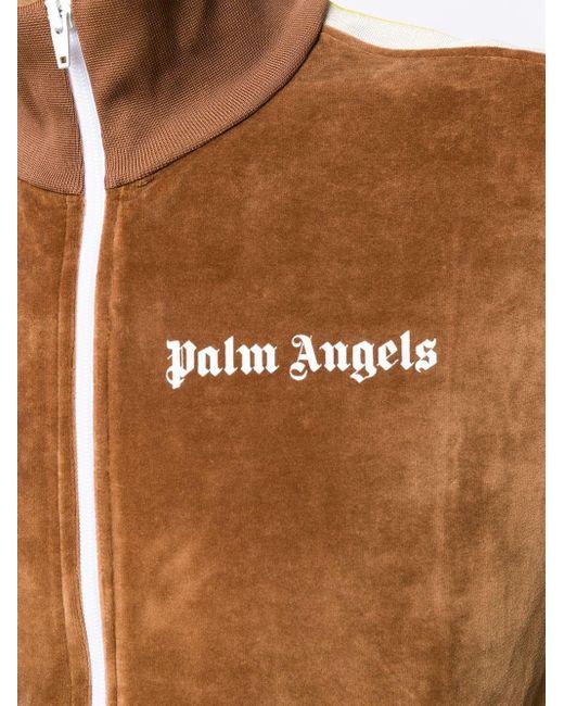 Palm Angels Trainingsjacke mit Logo in Brown für Herren
