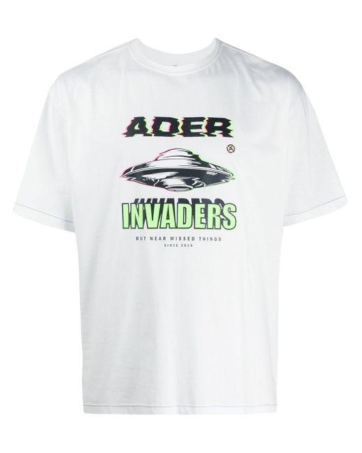 メンズ ADER ERROR Space Tシャツ White