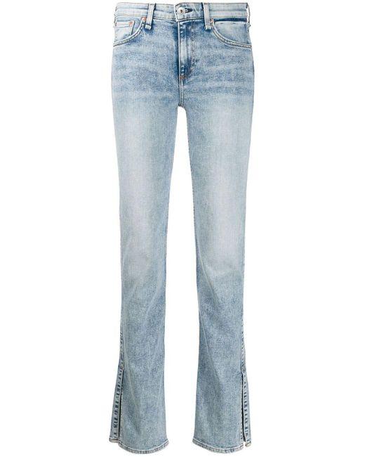 Rag & Bone Blue 'Cate' Jeans mit geradem Bein