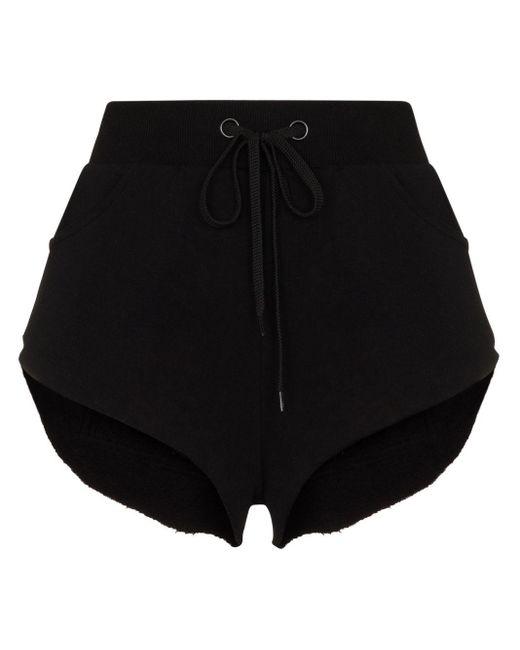 Natasha Zinko ドローストリング ショートパンツ Black