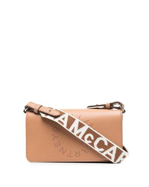 Мини-сумка Через Плечо Stella Logo Stella McCartney, цвет: Brown