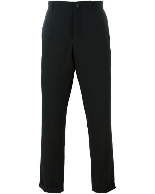Ann Demeulemeester Grise - Black Cropped Trousers for Men - Lyst