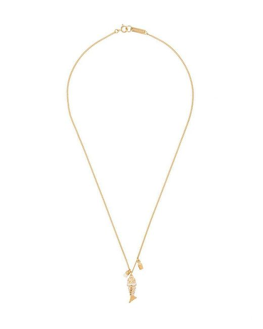 Isabel Marant - Metallic Fish Charm Necklace - Lyst