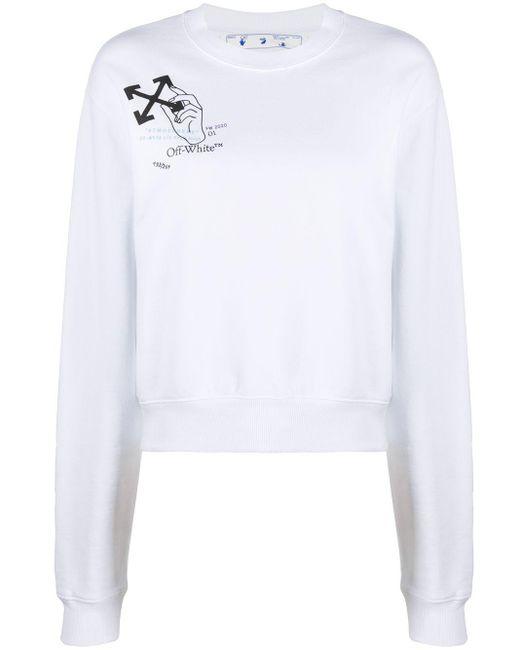 Толстовка С Логотипом Arrows Off-White c/o Virgil Abloh, цвет: White