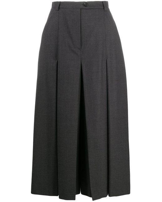 Юбка Миди Со Складками Maison Margiela, цвет: Gray