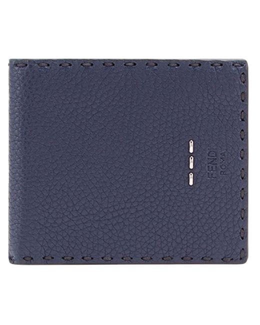 Bifold Selleria wallet Fendi pour homme en coloris Blue