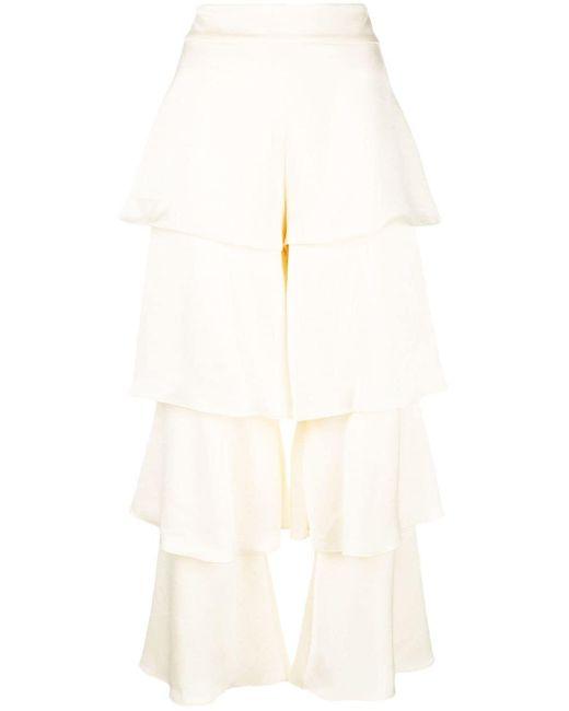 Alexis レイヤード パンツ White