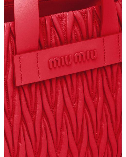 Miu Miu マテラッセ ハンドバッグ Red
