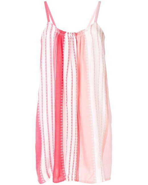 Lemlem ストライプ ビーチドレス Pink