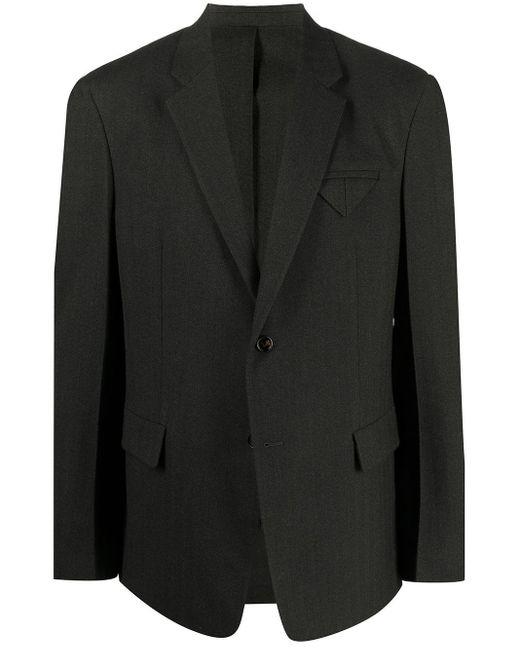 Пиджак С Заостренными Лацканами Bottega Veneta для него, цвет: Black