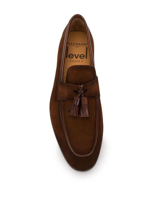 メンズ Magnanni Shoes タッセル ローファー Brown