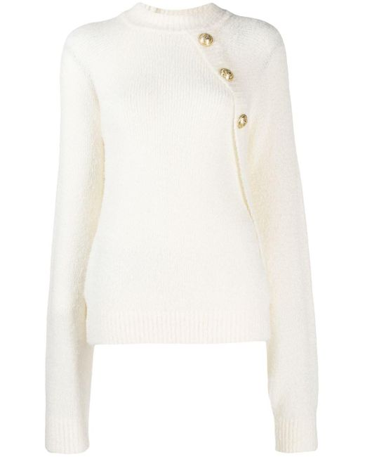 Balmain ボタン セーター White