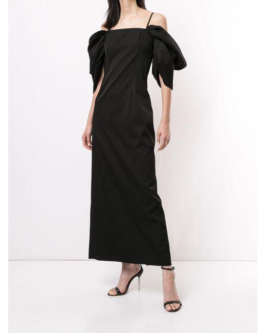 Carolina Herrera パフスリーブ ドレス Black