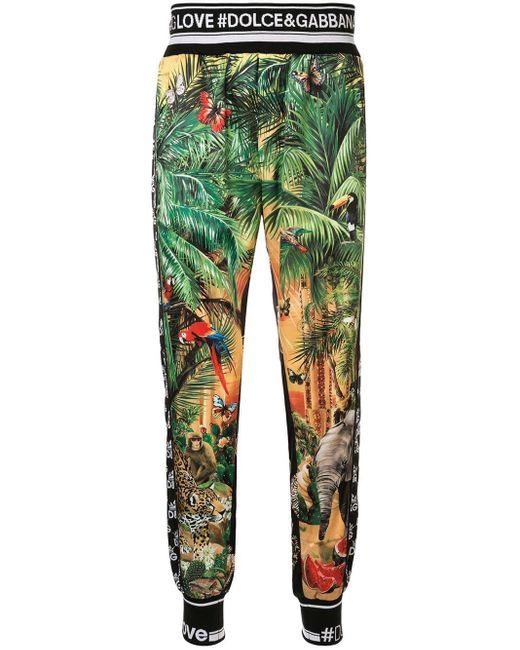 メンズ Dolce & Gabbana Dg King トラックパンツ Green