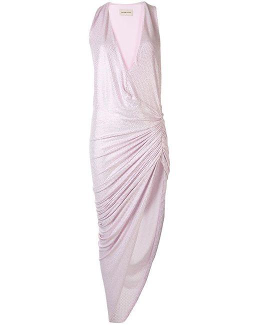 Alexandre Vauthier シャーリング ドレス Purple