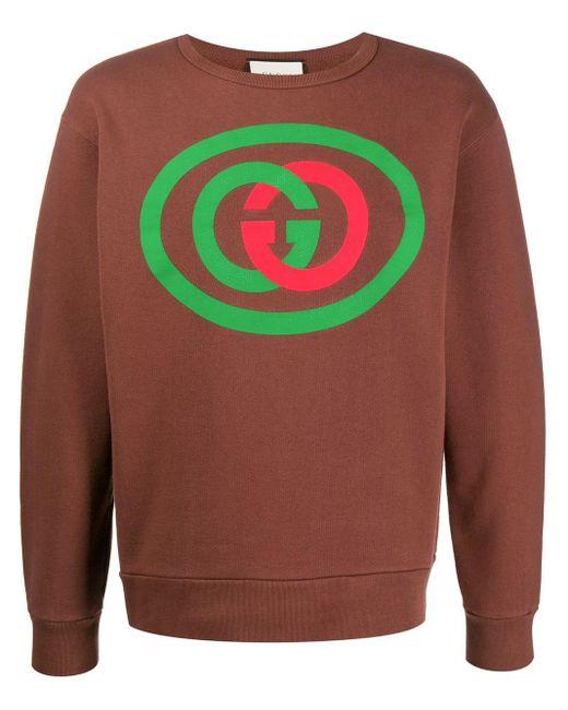 メンズ Gucci コットンインターロック スウェットシャツ Multicolor